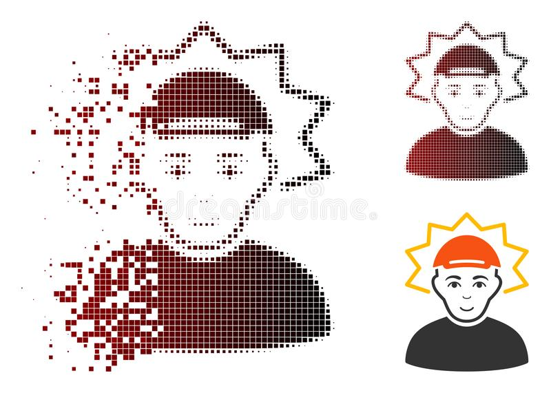 移动的映象点半音发明者象 库存例证
