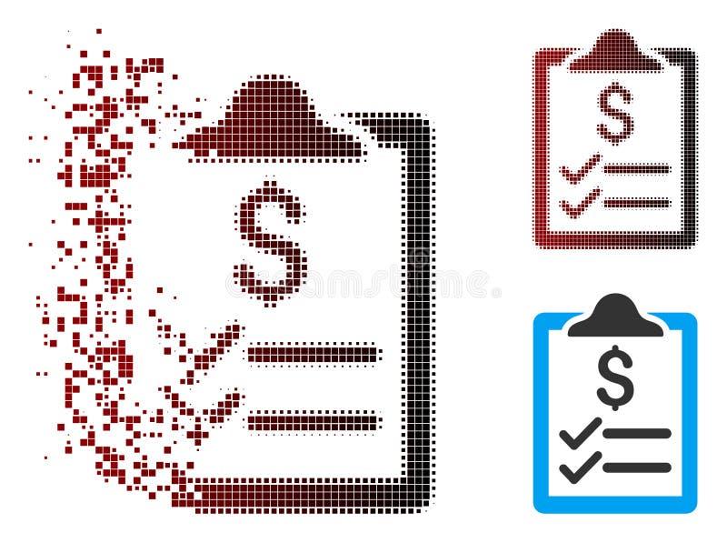 移动的映象点半音发货票垫象 向量例证