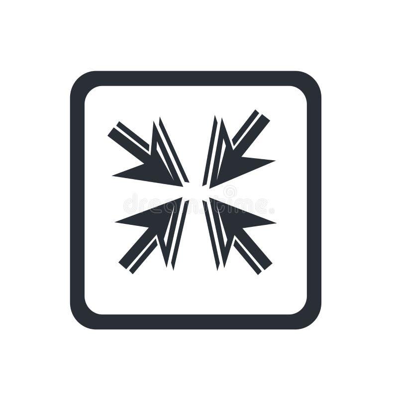 移动箭头象在白色背景和标志隔绝的传染媒介标志,移动箭头商标概念 向量例证