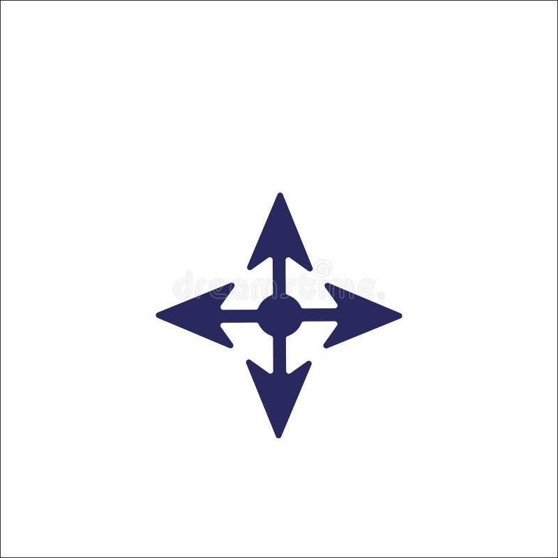 移动箭头象被隔绝的标志标志 皇族释放例证