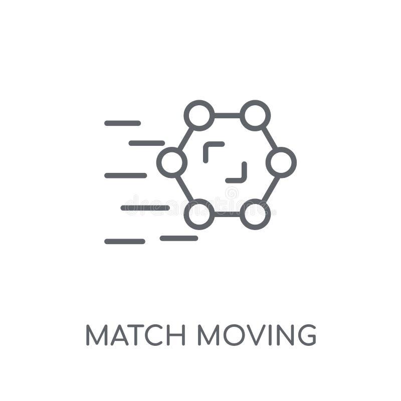 移动线性象的比赛 现代概述比赛移动的商标conce 库存例证