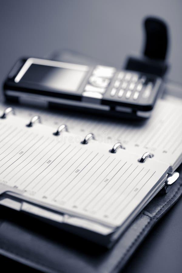 移动组织者电话 免版税库存图片