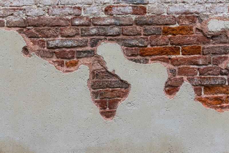 移动街道的砖墙 砖纹理 库存图片