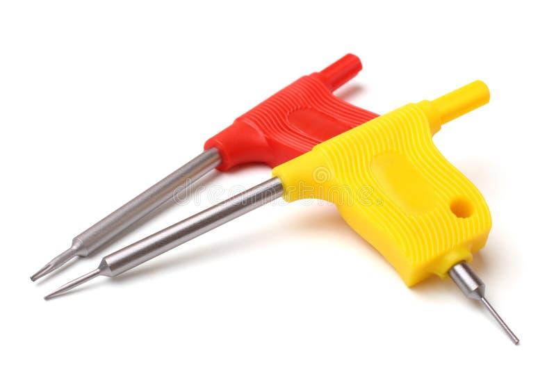 移动设备修理的螺丝刀  免版税库存图片