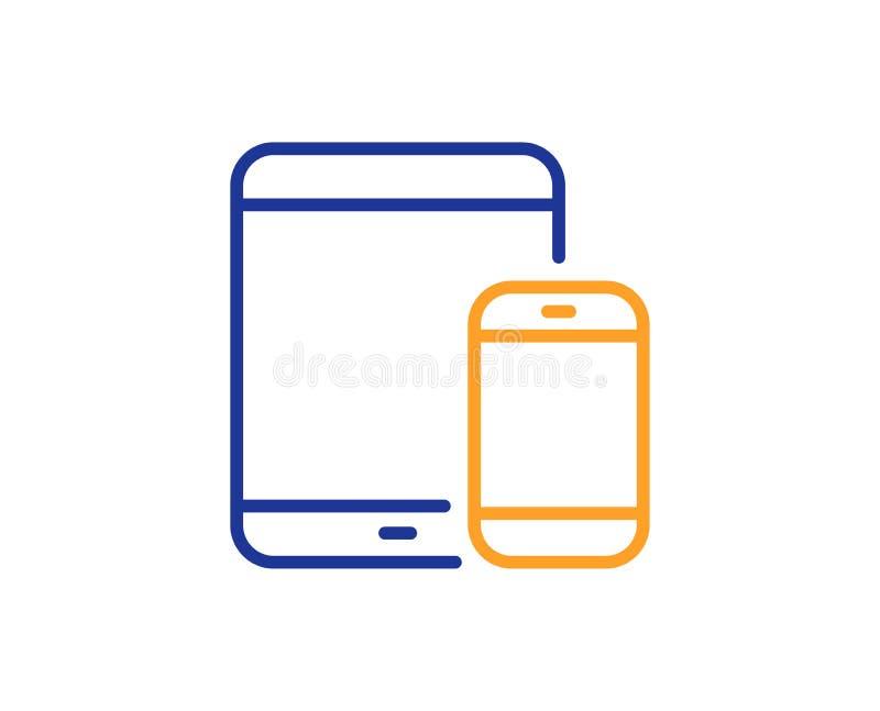 移动设备象 智能手机,片剂个人计算机 向量 皇族释放例证