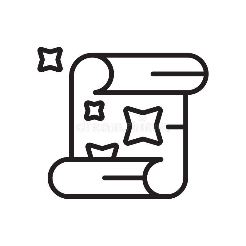 移动象在白色背景和标志隔绝的传染媒介标志,纸卷商标概念 皇族释放例证