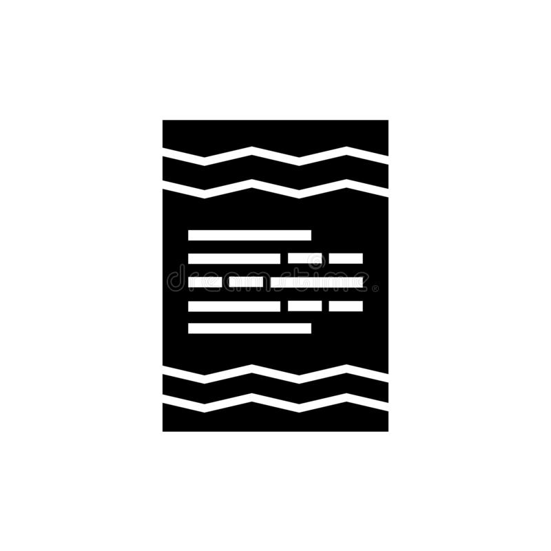 移动象在白色背景和标志隔绝的传染媒介标志,纸卷商标概念 库存例证