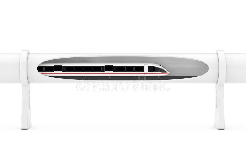 移动超级高速未来派磁悬浮的火车  免版税库存照片