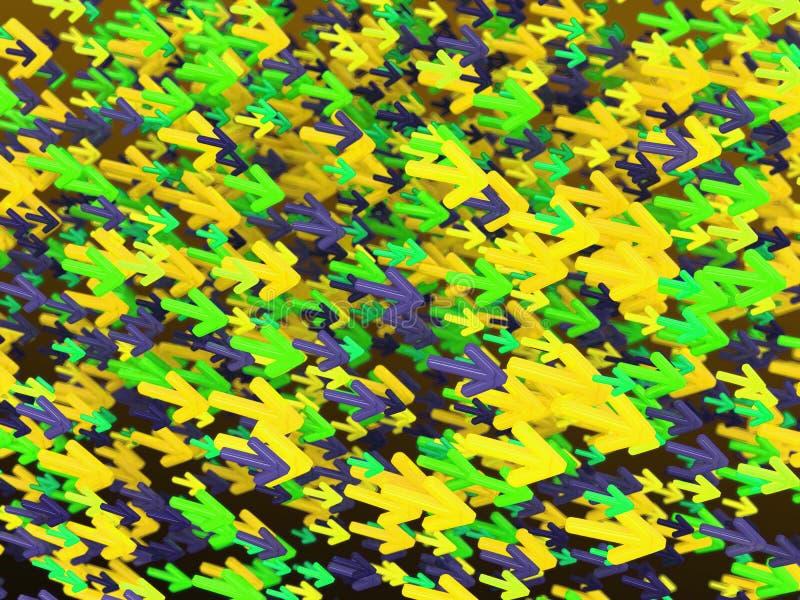 移动:大小组五颜六色的箭头 皇族释放例证