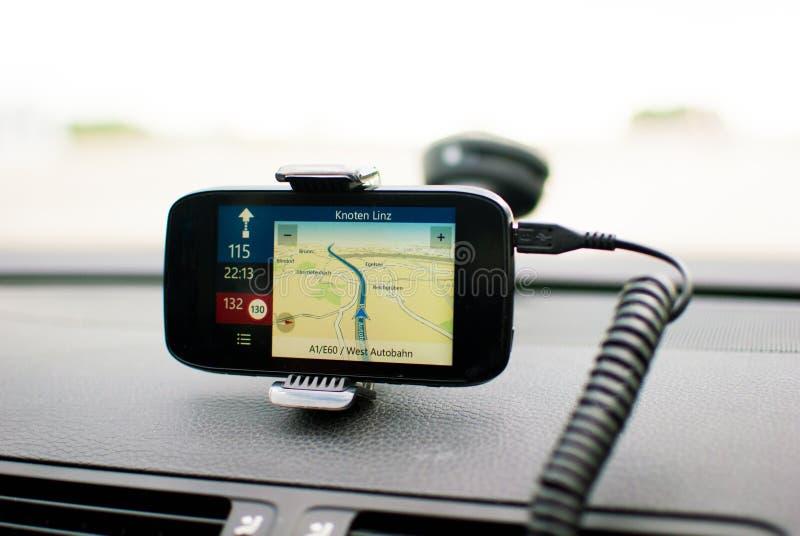 移动GPS定位 库存照片