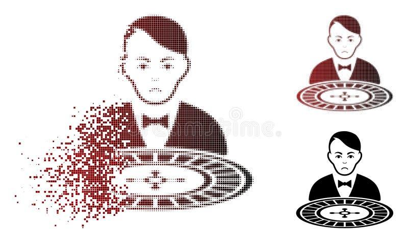 移动Pixelated半音轮盘赌副主持人象的忧伤 皇族释放例证