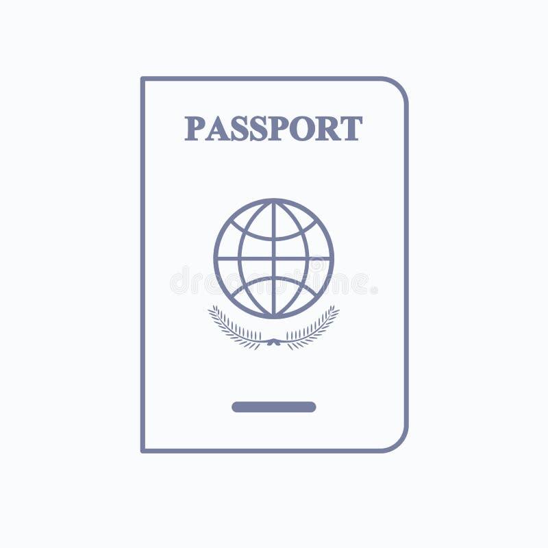 移民为护照象服务 库存例证
