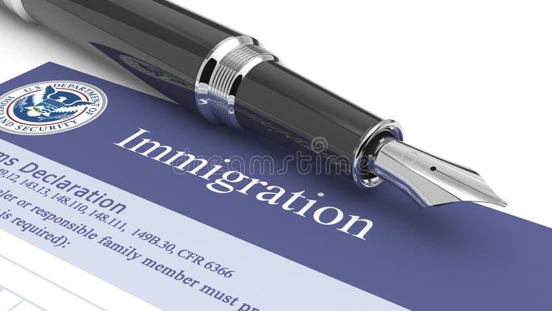 移民文件 向量例证