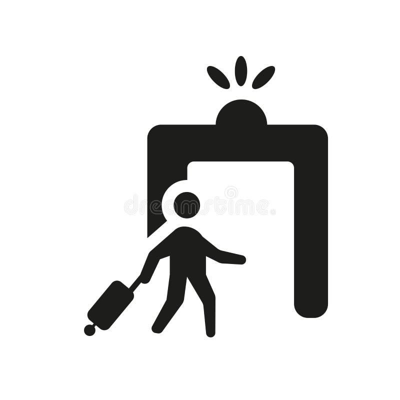 移民象 在白色backg的时髦移民商标概念 皇族释放例证