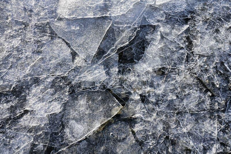 稀薄的冰碎片 库存照片