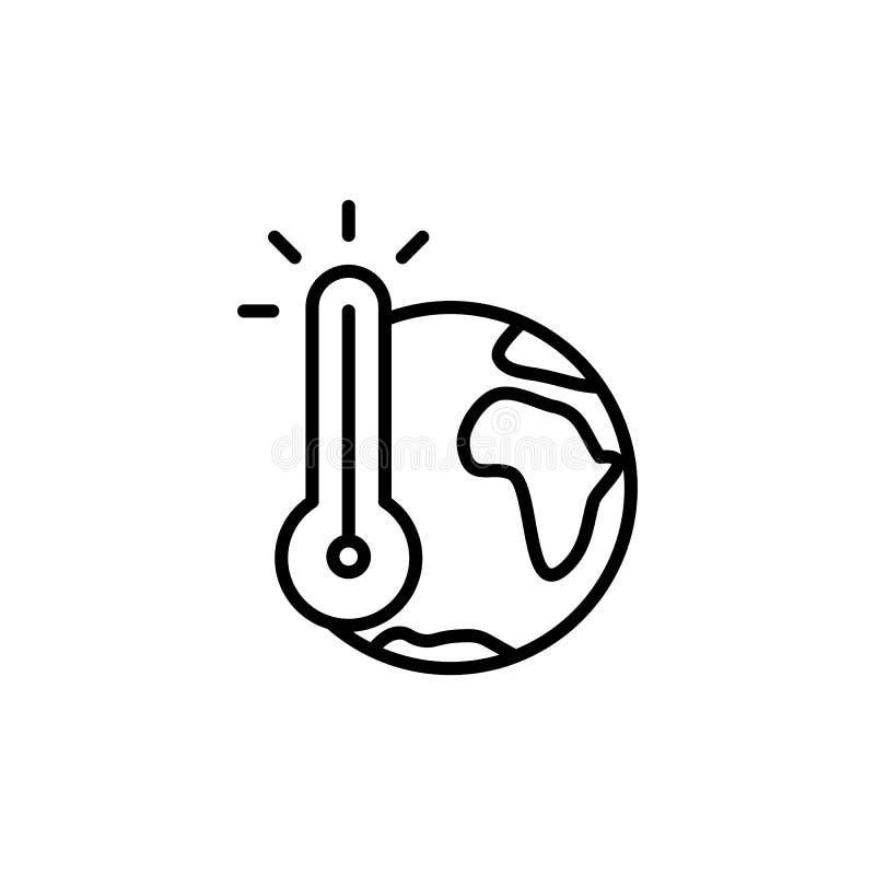 稀薄的线全球性变暖象 库存例证