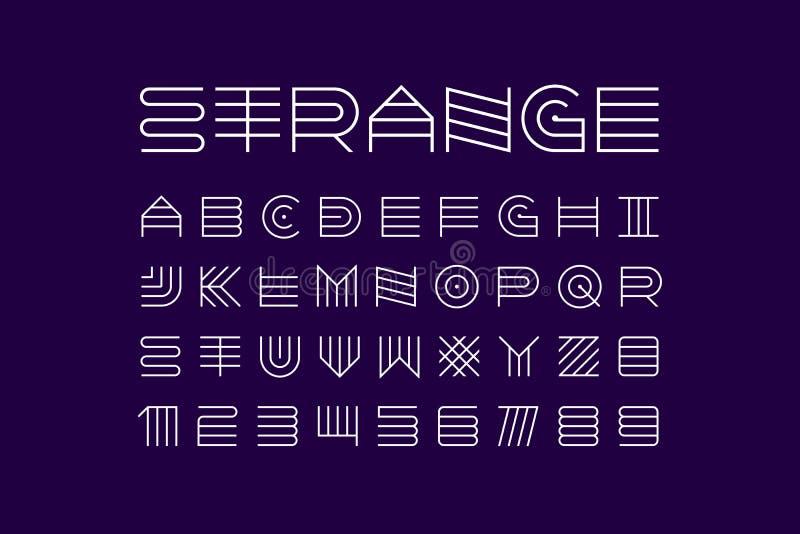 稀薄的线现代字体 皇族释放例证