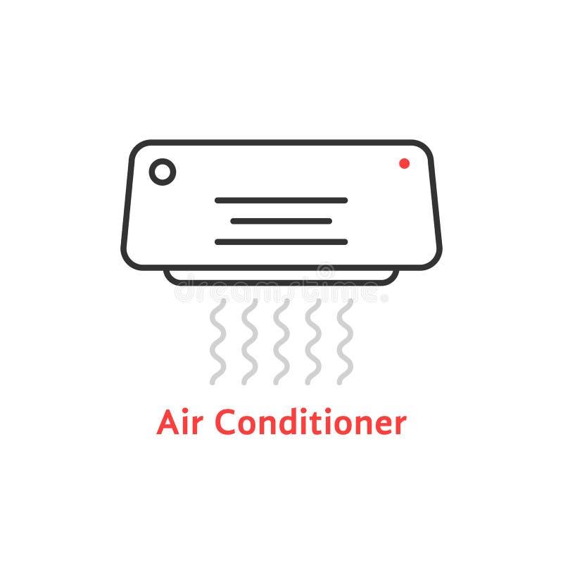 稀薄的线空调器象 向量例证