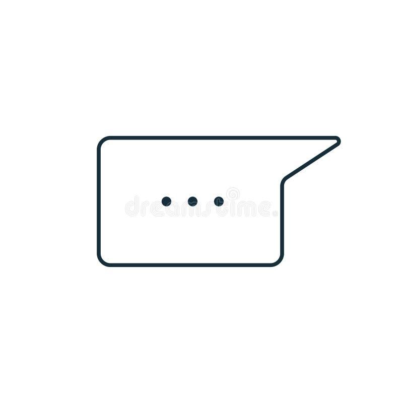 稀薄的线闲谈,讲话,评论,聊天的象 库存例证