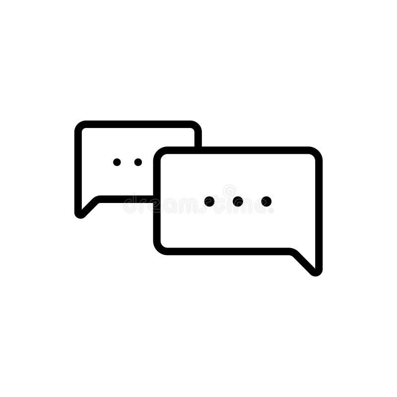 稀薄的线闲谈,讲话,评论,聊天的象 向量例证