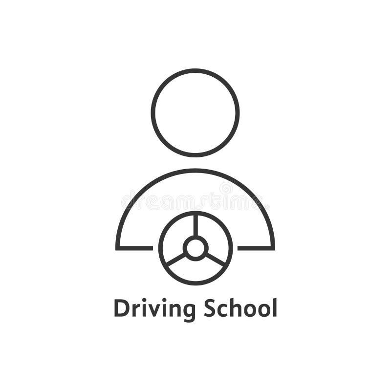 稀薄的线驾驶学校商标 皇族释放例证