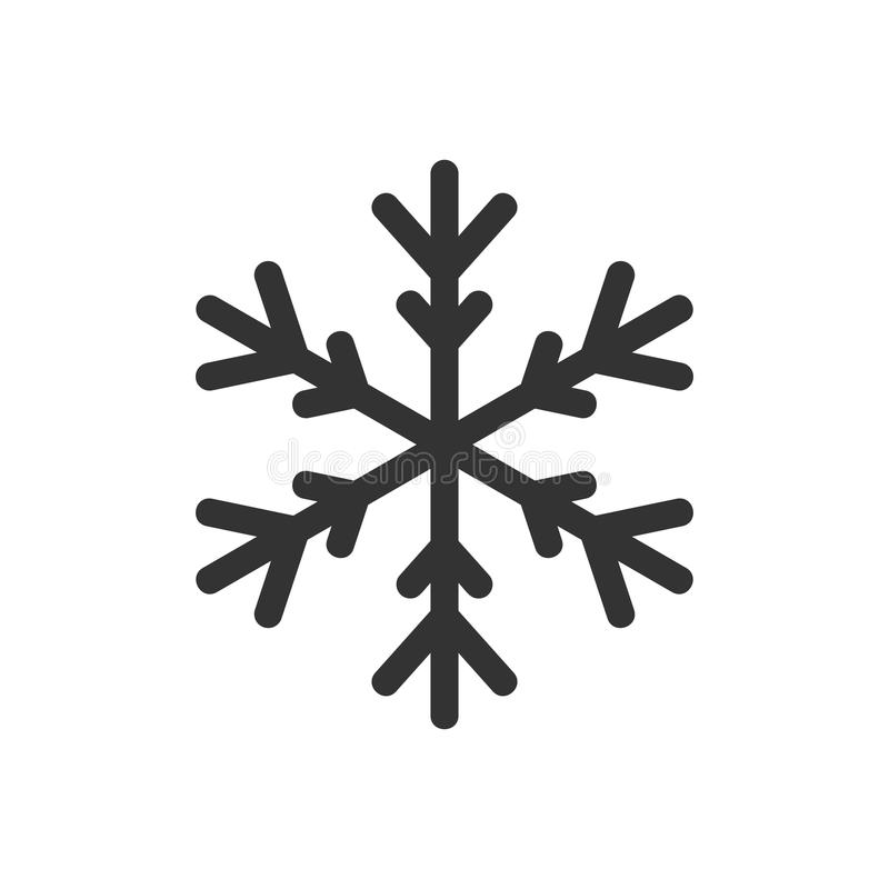 稀薄的雪花象 库存例证