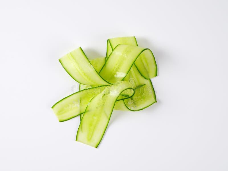 稀薄的黄瓜片式 库存图片