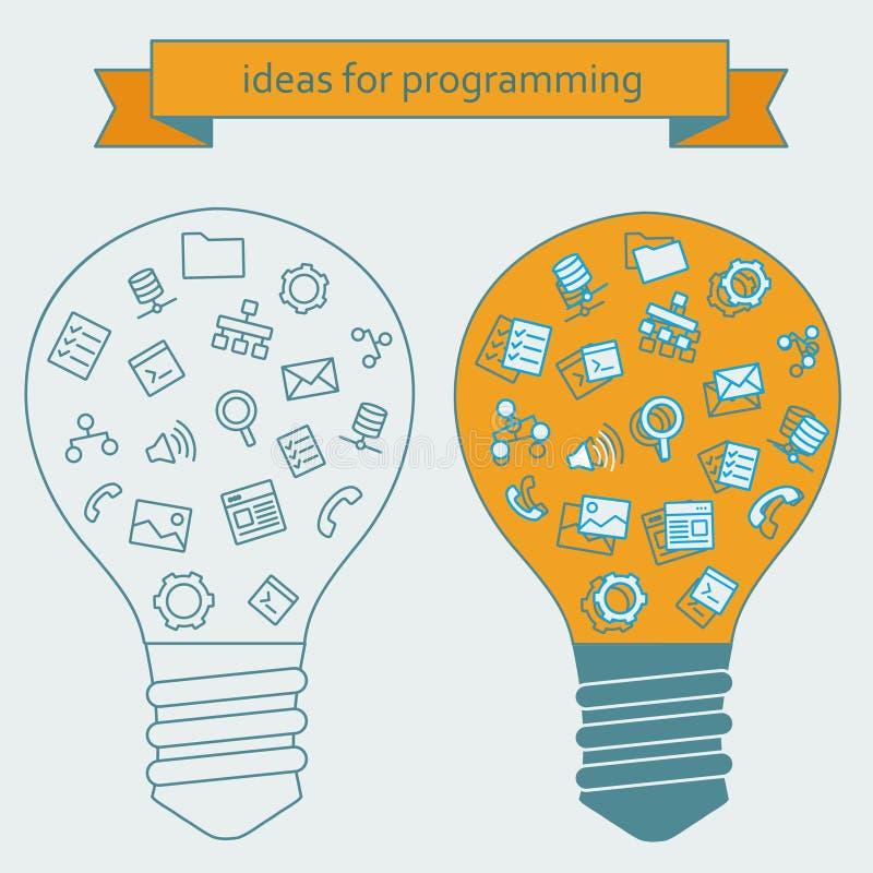Download 程序员的想法 库存例证. 插画 包括有 例证, 徽标, 查找, 属性, 动画片, 计算机, 概念, 一贯性 - 62537531