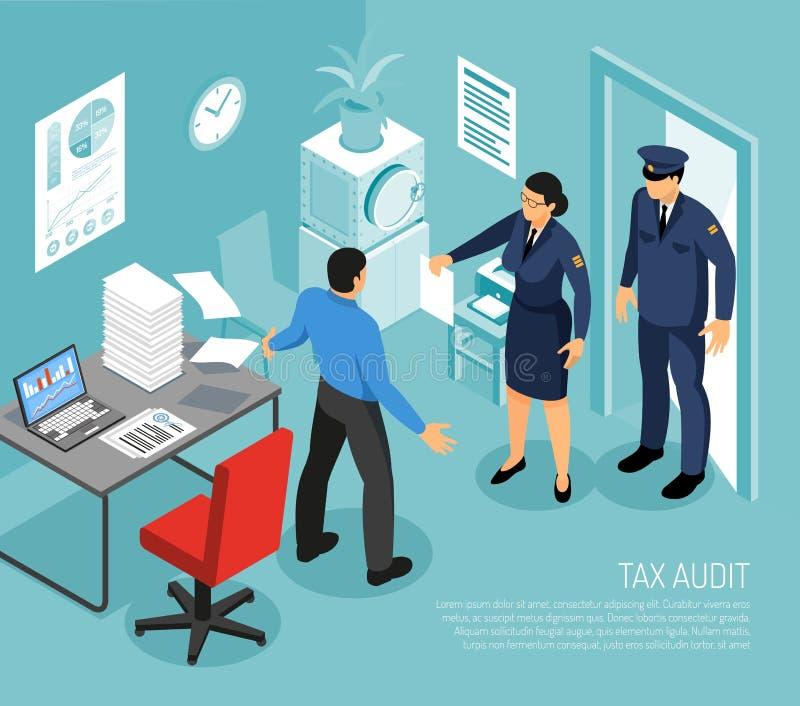 税务监查等量构成 库存例证