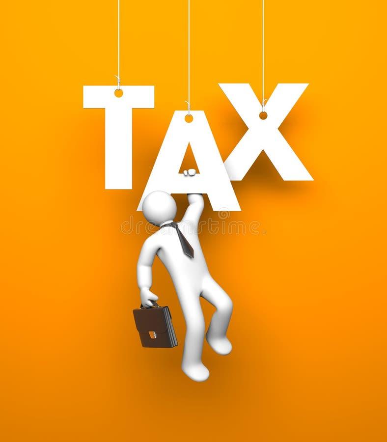 税务 商业查出的隐喻白色 皇族释放例证
