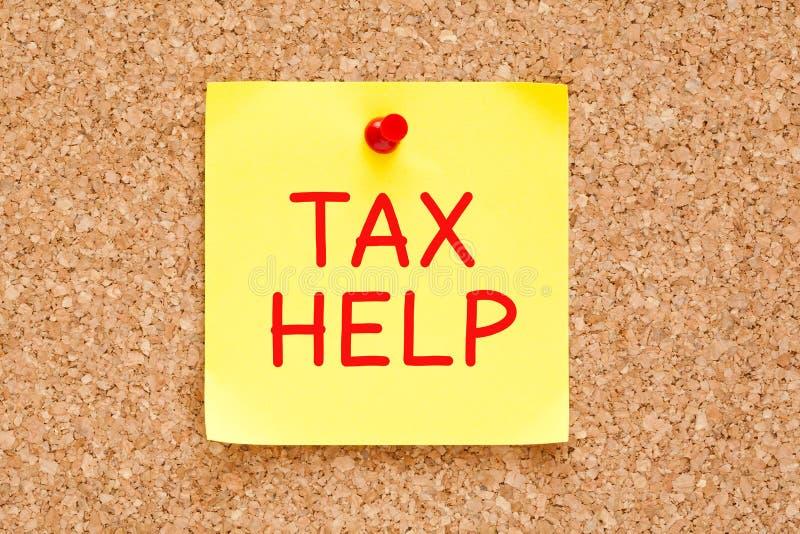 税帮助稠粘的笔记 免版税库存照片