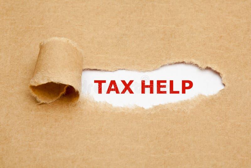 税帮助被撕毁的纸概念 库存照片