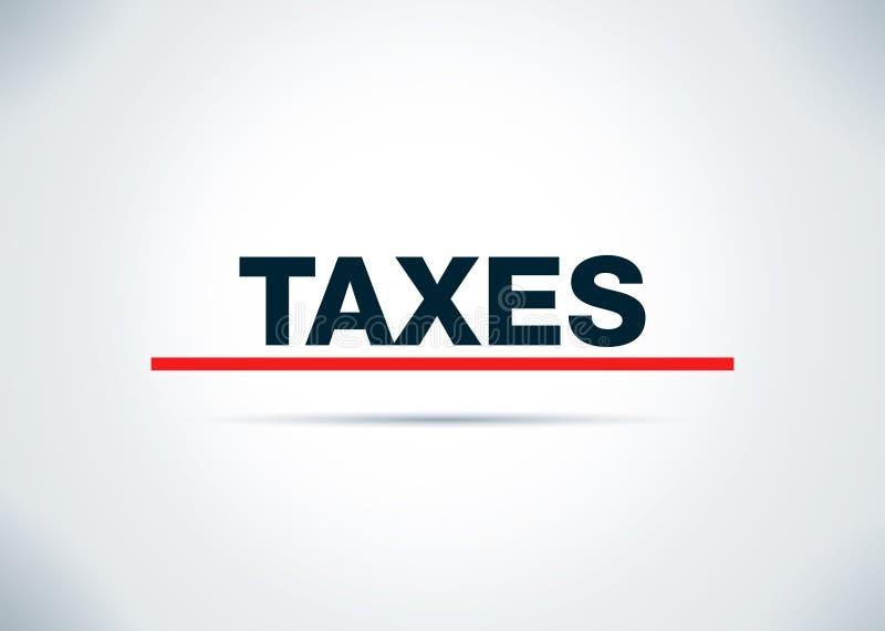 税提取平的背景设计例证 库存例证