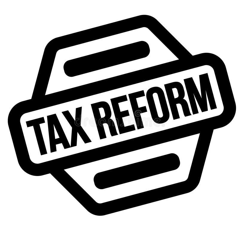 税收改革黑色邮票 向量例证