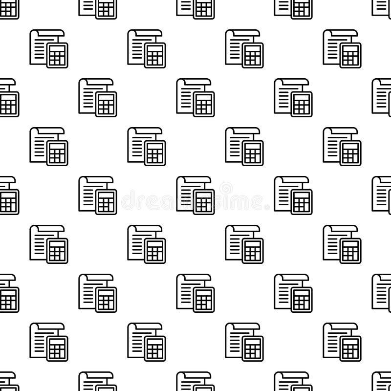 税无缝纸的样式 库存例证