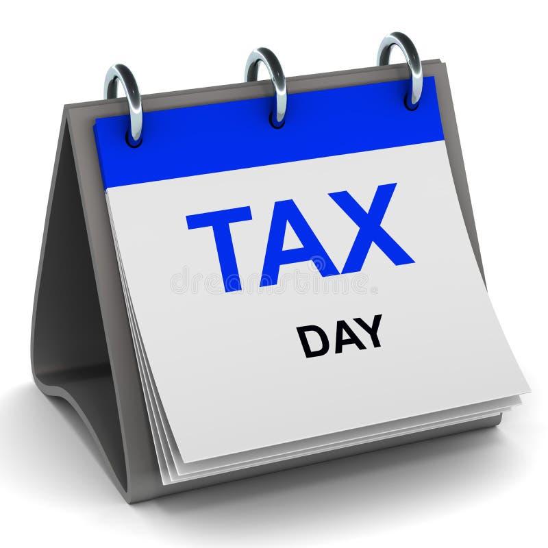 税日期 向量例证