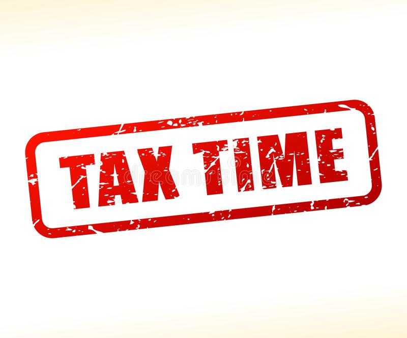 税时间文本邮票 库存例证