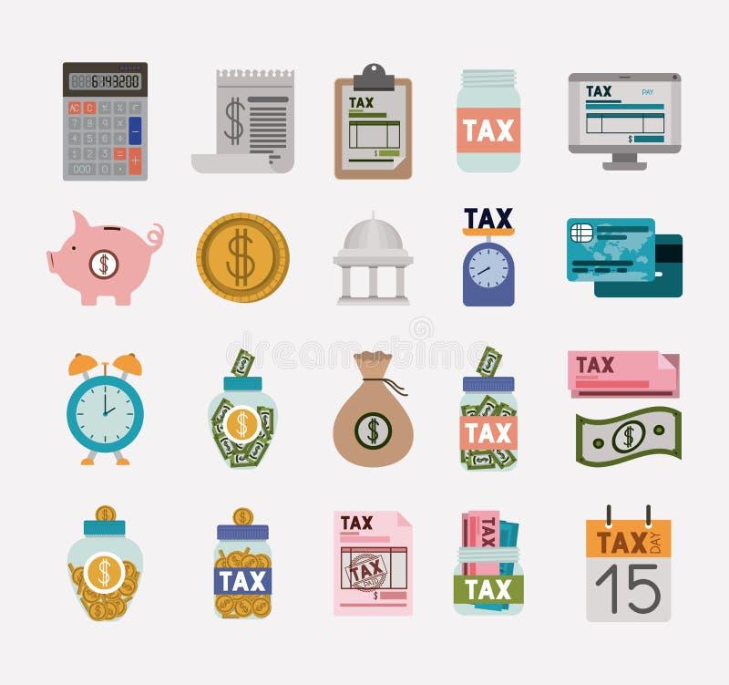税时间集合象 库存例证