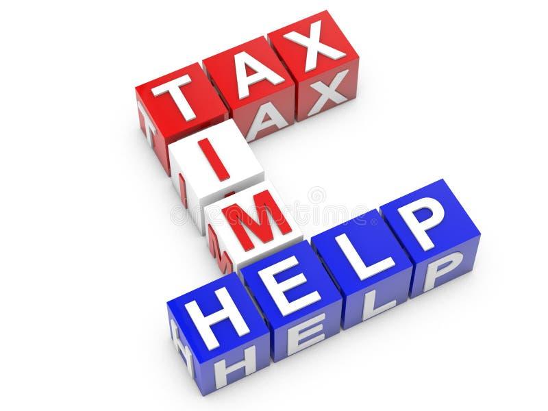 税时间和帮助 皇族释放例证