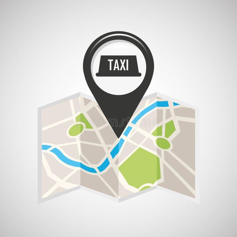 税服务地图别针尖设计 库存例证