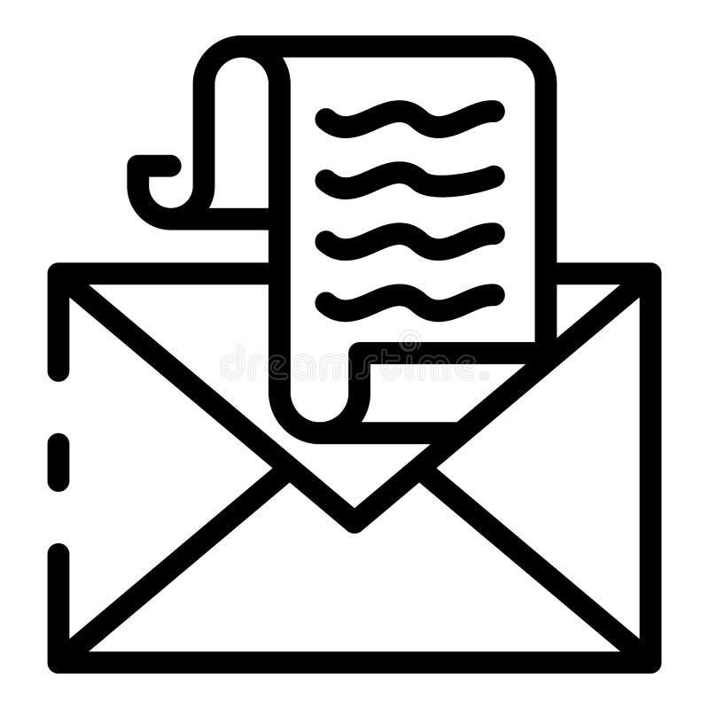 税电子邮件象,概述样式 向量例证