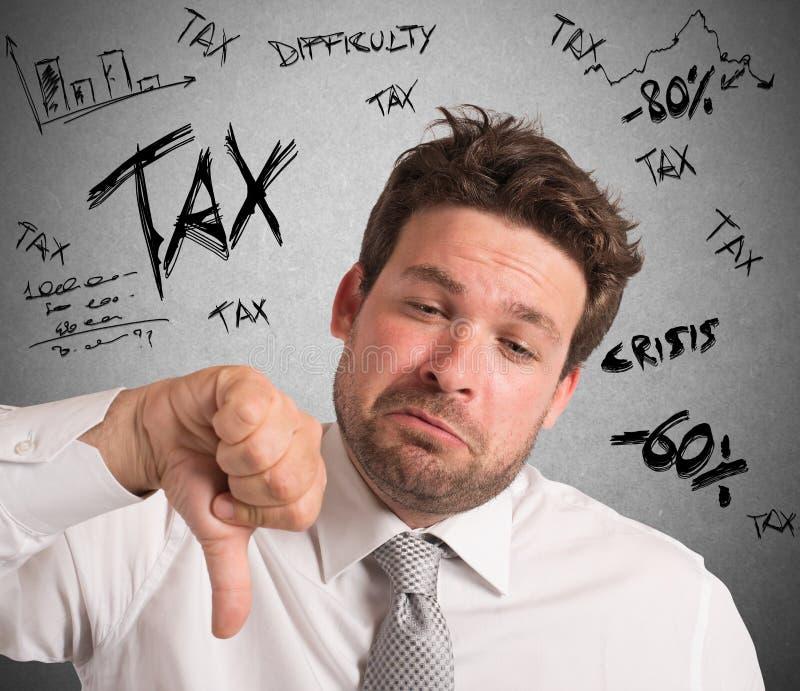 税的失望 免版税库存照片