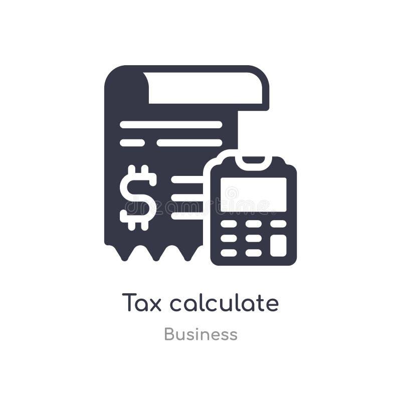 税计算概述象 r 编辑可能的稀薄的冲程税计算象  向量例证