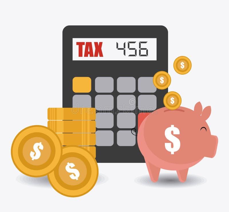 税设计,传染媒介例证 向量例证