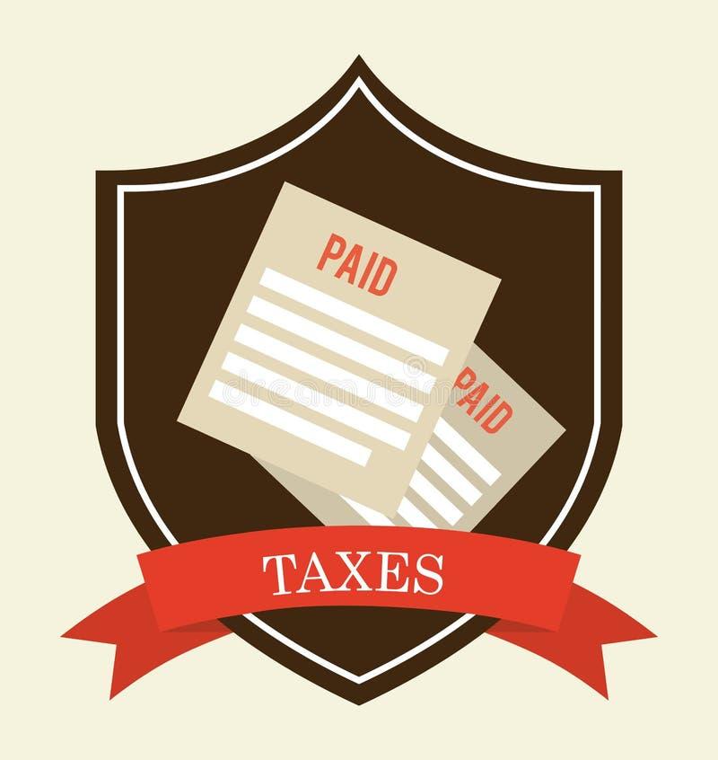 税设计 皇族释放例证