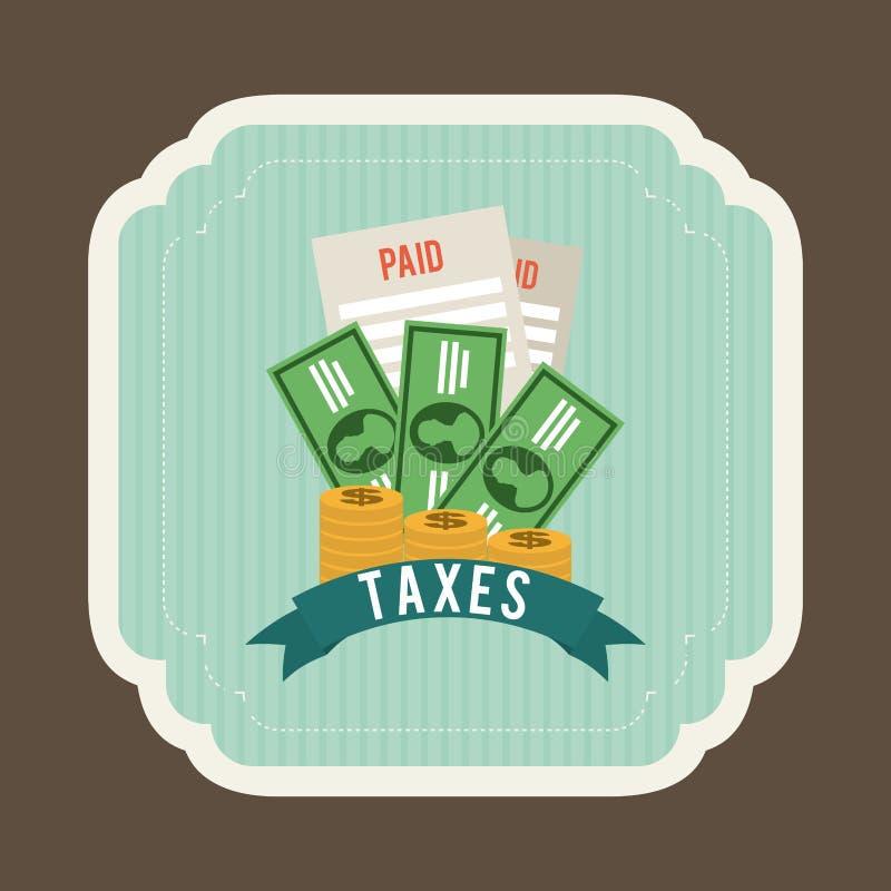 税设计 库存例证