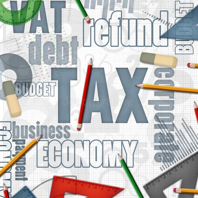 税财政企业背景 向量例证