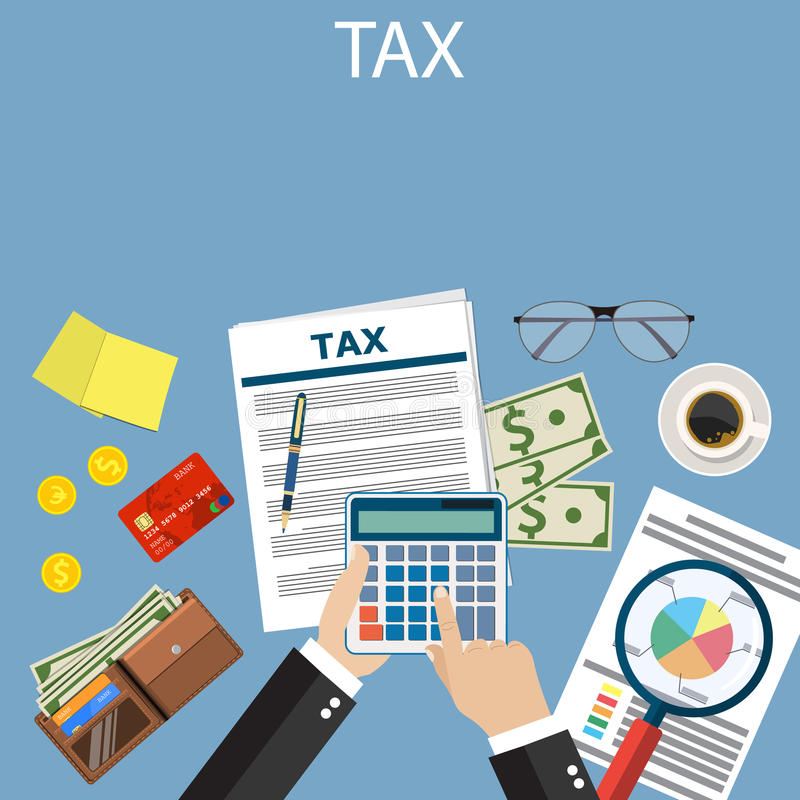付税 政府税 向量例证