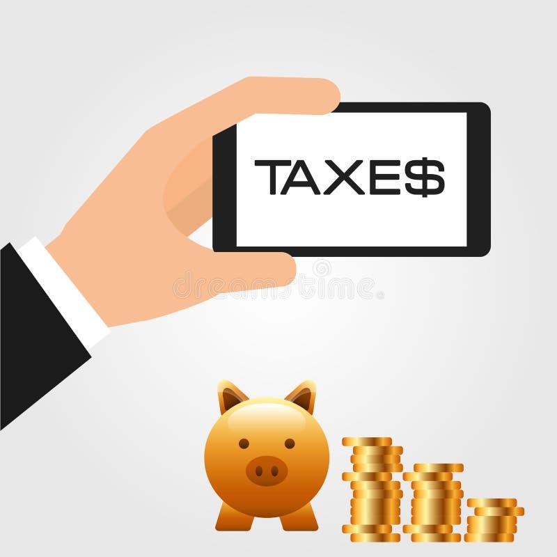 付税 库存例证