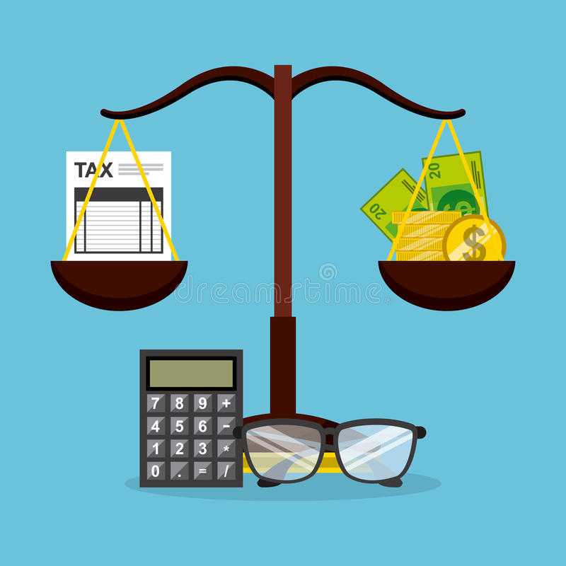 付税 向量例证